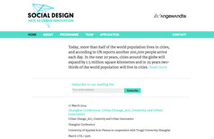 Social Design - Arts as urban innovation
